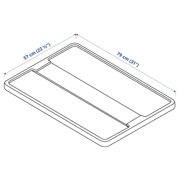 SAMLA Tapa para caja de 55 o 130 litros, transparente