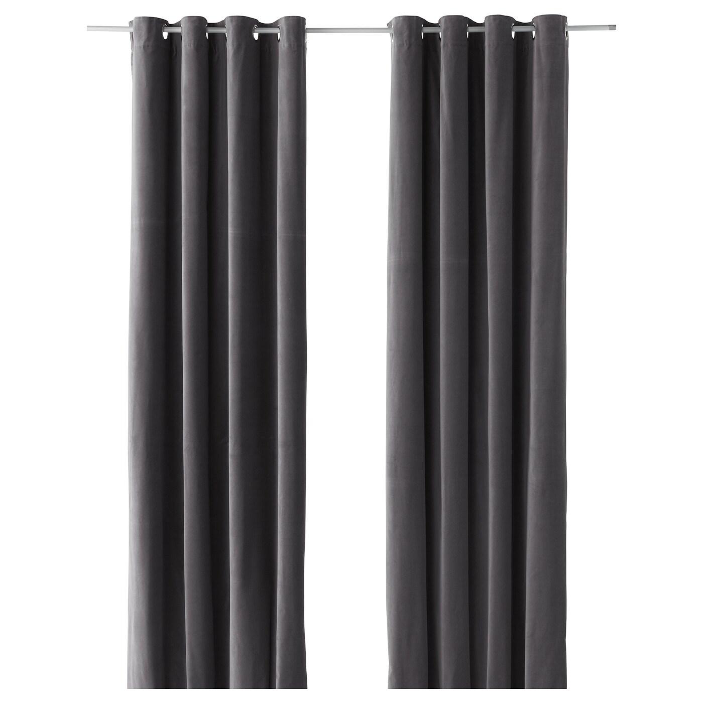 SANELA Cortina, 1par Gris 140 x 300 cm - IKEA
