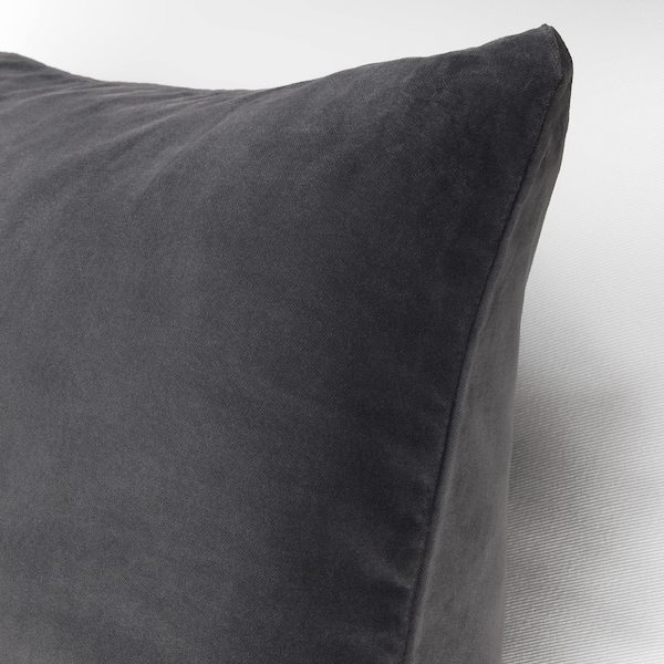 SANELA Funda de cojín, gris oscuro, 50x50 cm