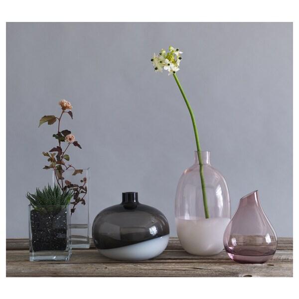 SANNOLIK Florero / jarrón, rosa, 17 cm