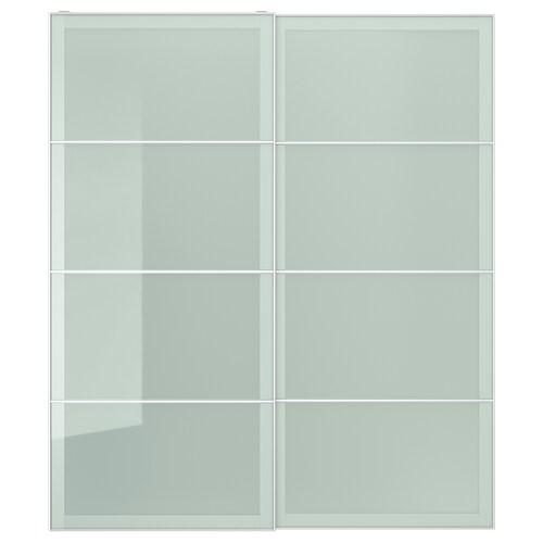 SEKKEN puertas correderas, 2 uds vidrio esmerilado 200.0 cm 236.0 cm 8.0 cm 2.3 cm