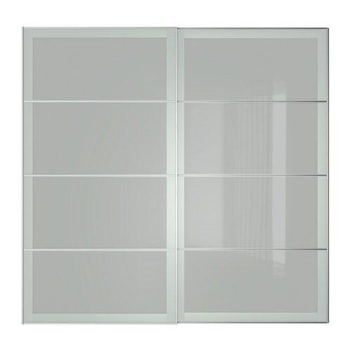 Sekken puertas correderas 2 uds 200x201 cm ikea for Sistema puertas correderas ikea