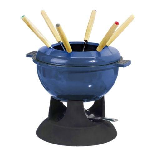 SENIOR Servicio de fondue azul, negro Ancho: 25 cm Altura: 22 cm
