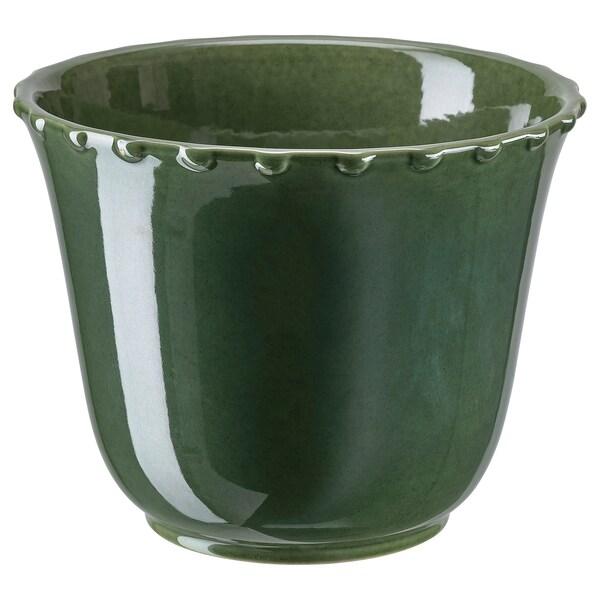 SHARONFRUKT Macetero, int/ext verde, 12 cm