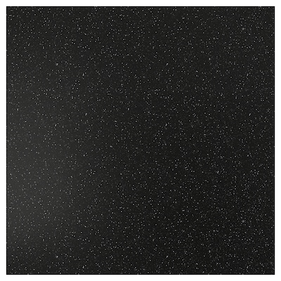 SIBBARP Panel de pared, negro acabado mineral/laminado, 1 m²x1.3 cm