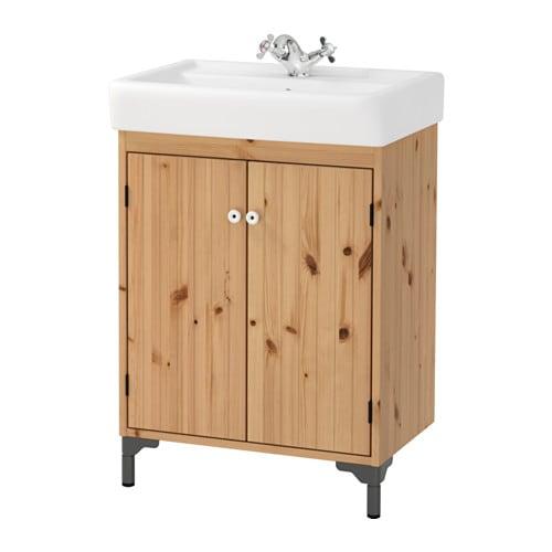 SILVERÅN  HAMNVIKEN Armario lavabo+2prtas  marrón claro  IKEA