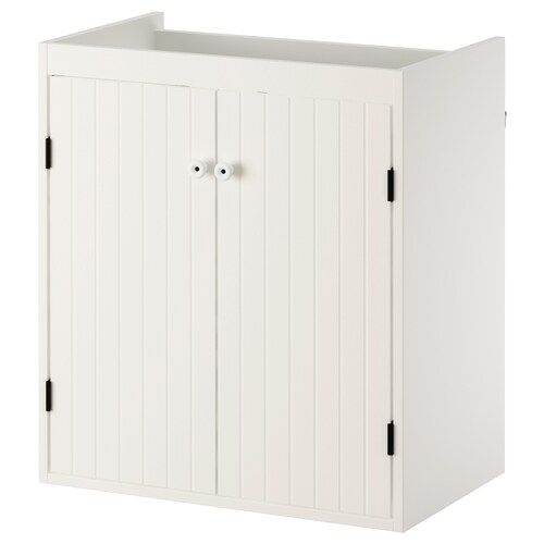 SILVERÅN armario lavabo+2prtas blanco 60 cm 38 cm 67.6 cm