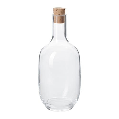 Botella vidrio ikea
