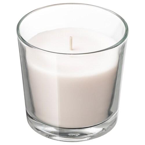 SINNLIG vela aromática en vaso vainilla/natural 9 cm 40 hr