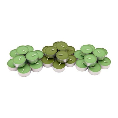"SINNLIG – Vela perfumada, verde, 30 unidades"" border="