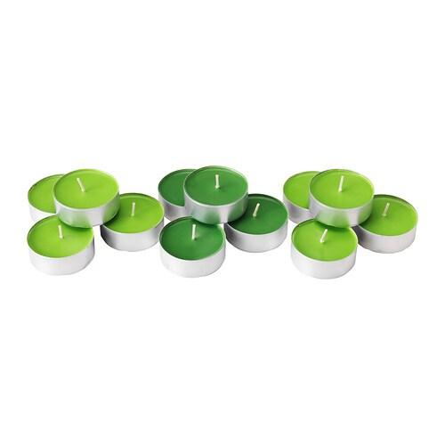 SINNLIG Vela perfumada con base de metal, manzana verde, verde