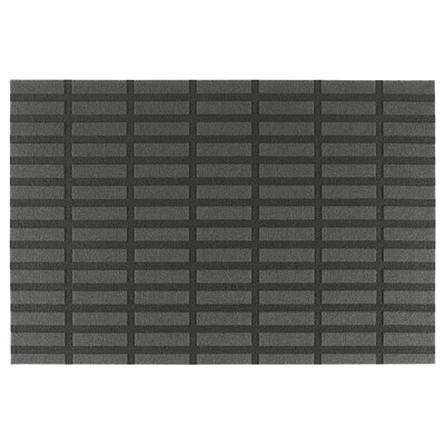 SIVESTED Felpudo, gris oscuro, 60x90 cm