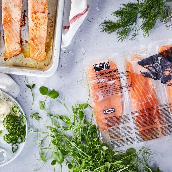 SJÖRAPPORT filete salmón certificado ASC/congelado 500 g