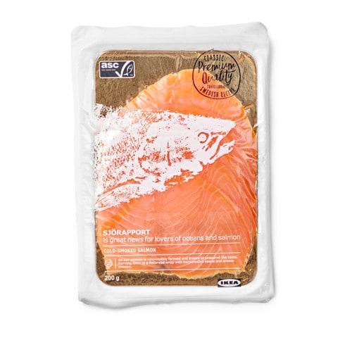 Salmón marinado congelado