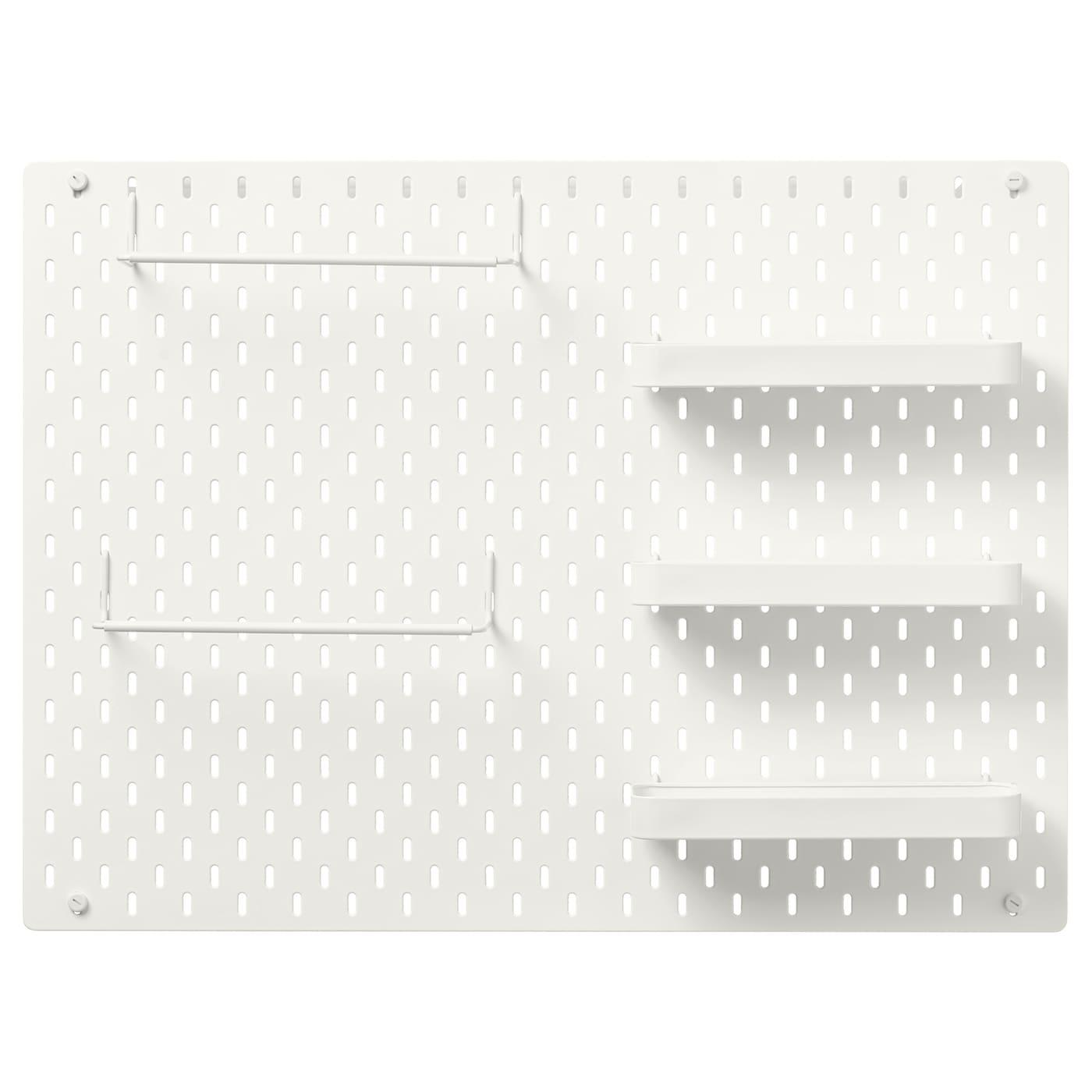 SKÅDIS Tablero perforado comb - blanco 76x56 cm