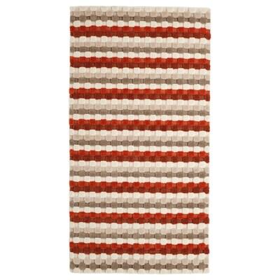 SKANDERUP Alfombra, a mano/beige rojo óxido, 80x150 cm