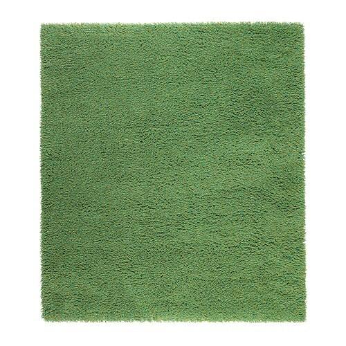 Sk rup alfombra pelo largo ikea for Alfombra verde ikea