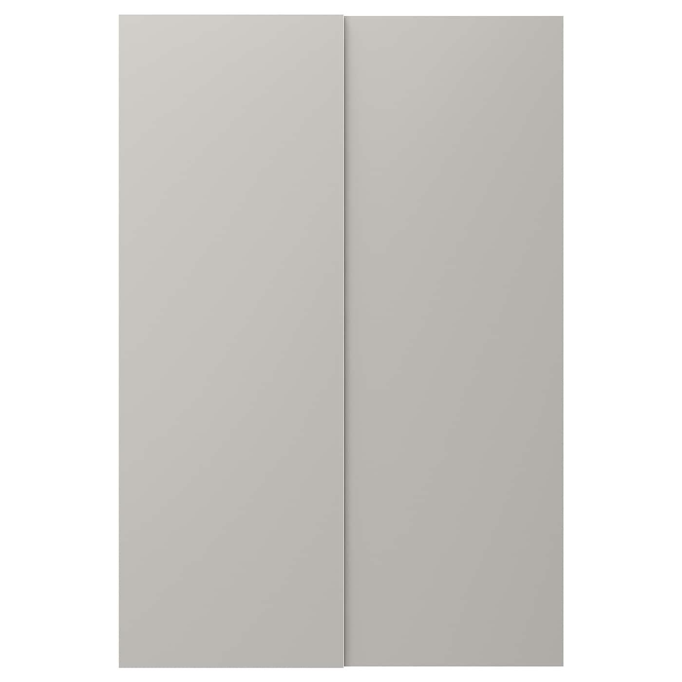 Skatval puertas correderas 2 uds gris claro 120 x 180 cm ikea - Puerta corredera 120 cm ...