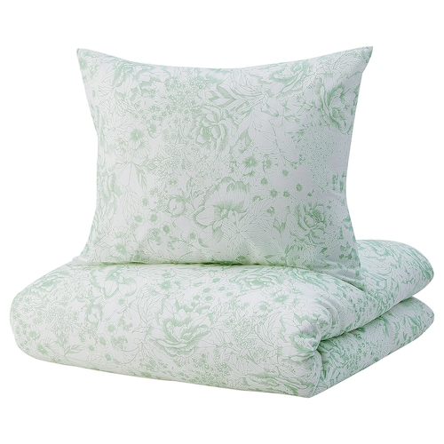 SKOGSSTARR funda nórdica y 2 fundas almohada verde 2 unidades 220 cm 240 cm 50 cm 60 cm