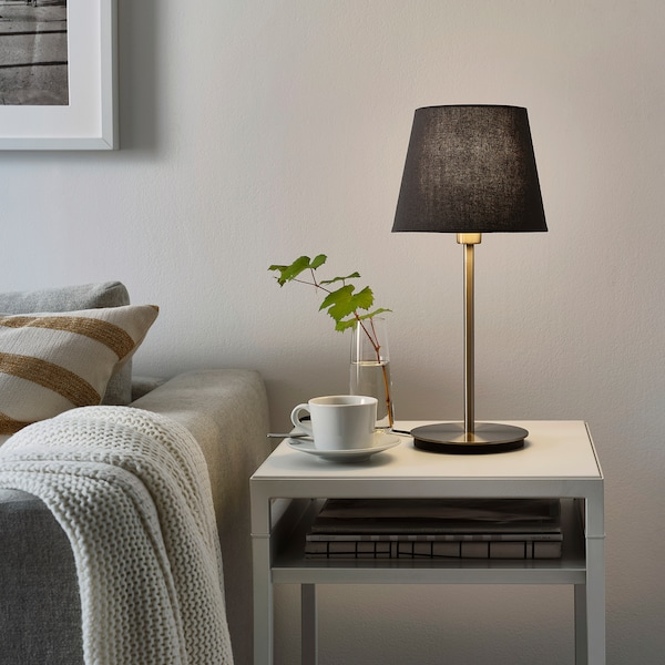 SKOTTORP Pantalla para lámpara gris 19 cm