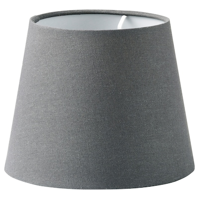SKOTTORP Pantalla para lámpara, gris, 19 cm