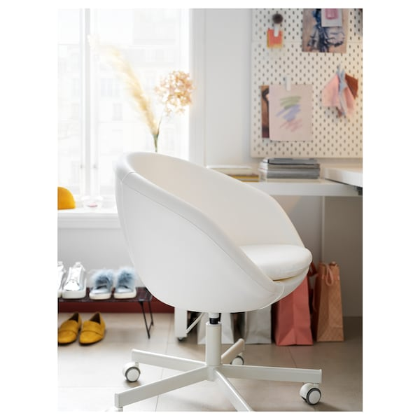 Skruvsta Silla Giratoria Ysane Blanco Ikea
