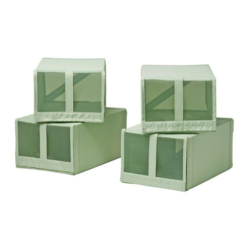 skubb caja para zapatos verde claro ikea