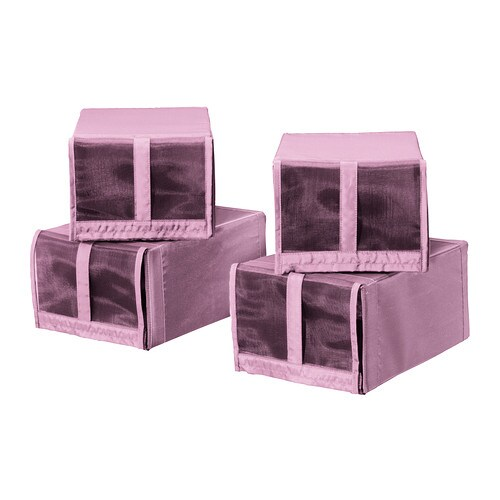 skubb caja para zapatos rosa ikea