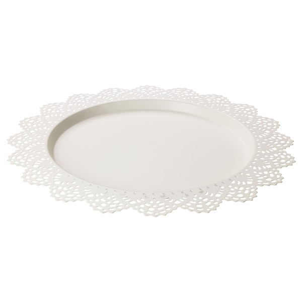 SKURAR Soporte vela, blanco, 37 cm