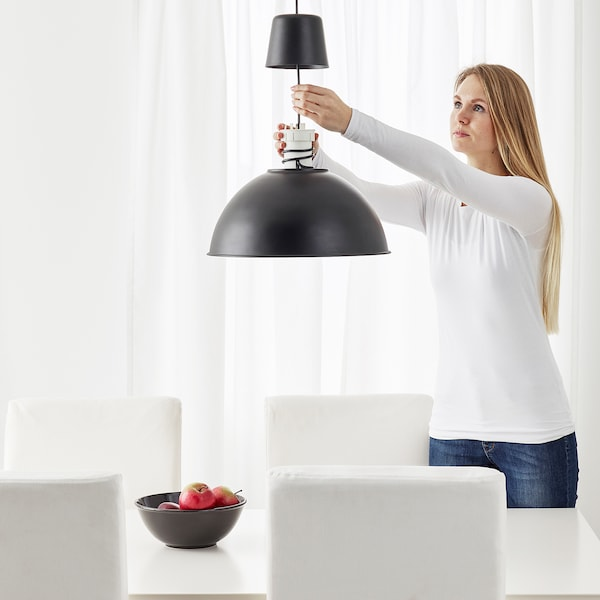 SKURUP Lámpara de techo, negro, 38 cm