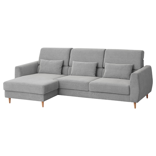 SLATORP sofá 3 plazas con chaiselongue izda/Tallmyra blanco/negro 276 cm 157 cm 92 cm 157 cm 240 cm 65 cm 42 cm