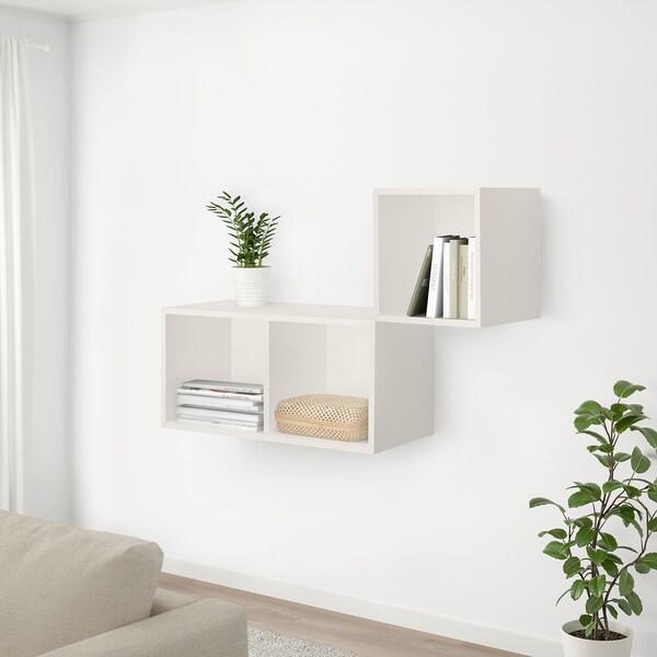 SMARRA Caja con tapa, natural, 30x30x10 cm
