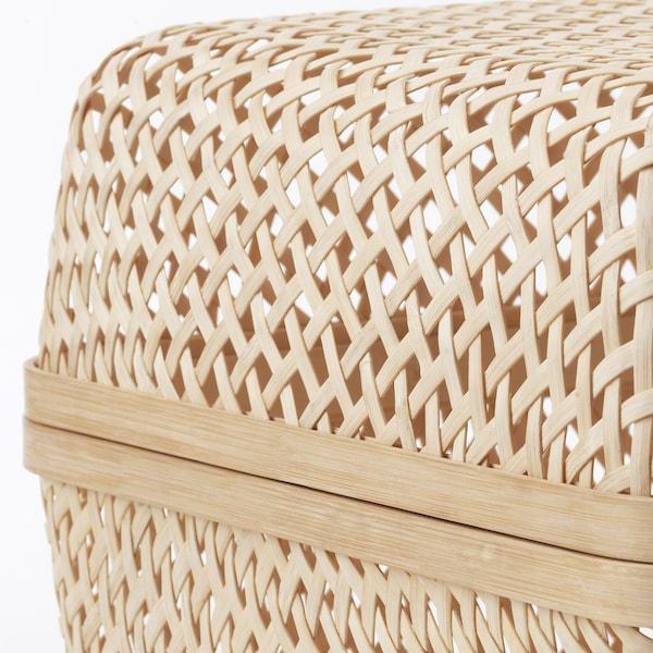 SMARRA Caja con tapa, natural, 30x30x23 cm