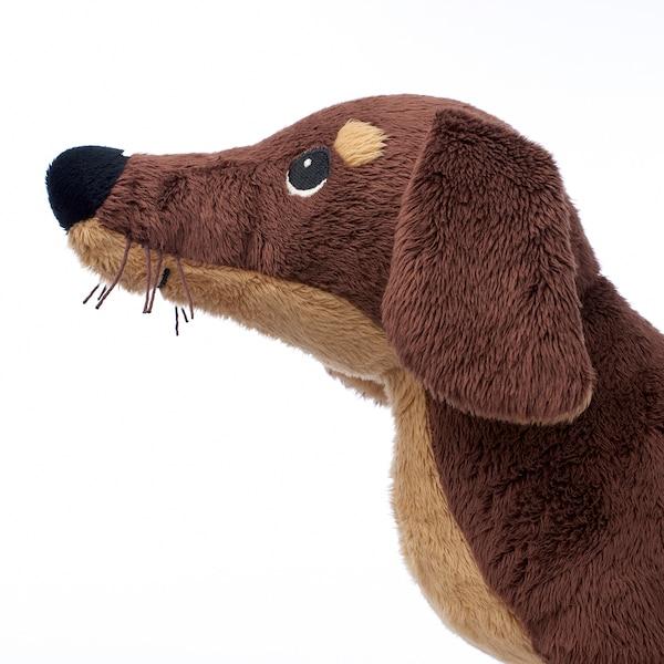 SMÅSLUG Peluche, perro/marrón