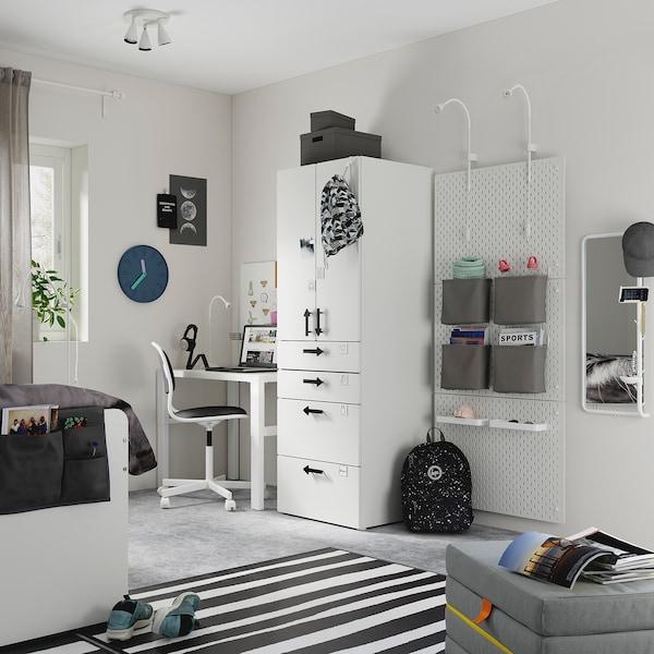 SMÅSTAD Armario, blanco blanco/con 4 cajones, 60x57x181 cm