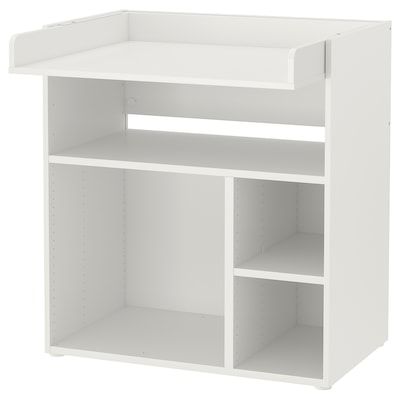 SMÅSTAD Cambiador/escritorio, blanco