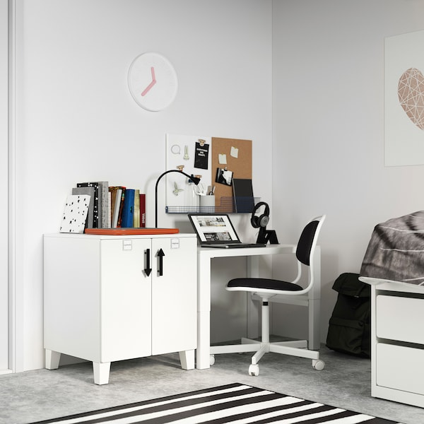 SMÅSTAD / PLATSA Armario, blanco blanco/con 1 balda, 60x57x63 cm