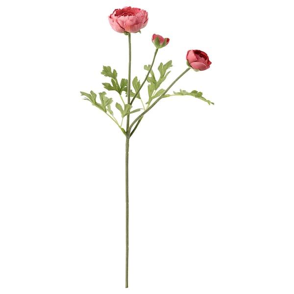 SMYCKA Flor artificial, ranúnculo/rosa oscuro, 52 cm