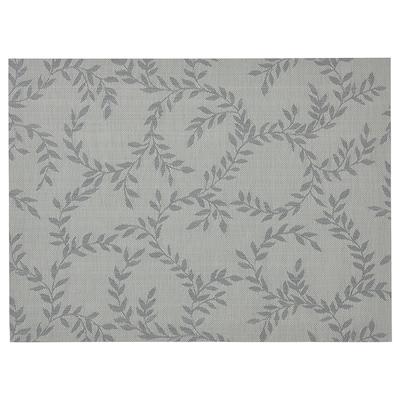 SNOBBIG Mantel individual, con motivos/gris, 45x33 cm