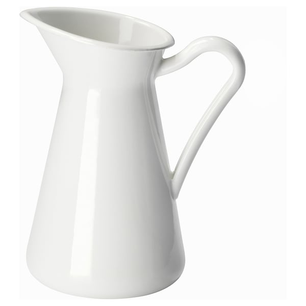 SOCKERÄRT florero / jarrón blanco 16 cm 0.6 l