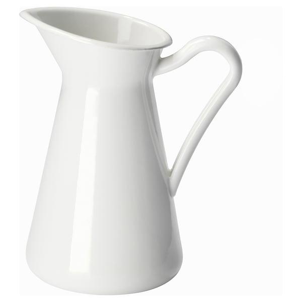 SOCKERÄRT Florero / jarrón, blanco, 16 cm