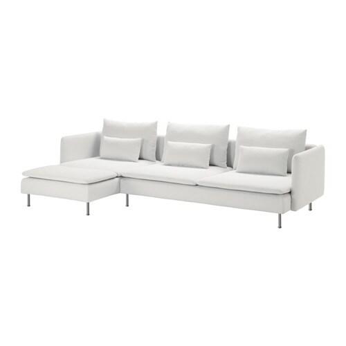 Sofá de 3 plazas y chaiselongue, Finnsta blanco