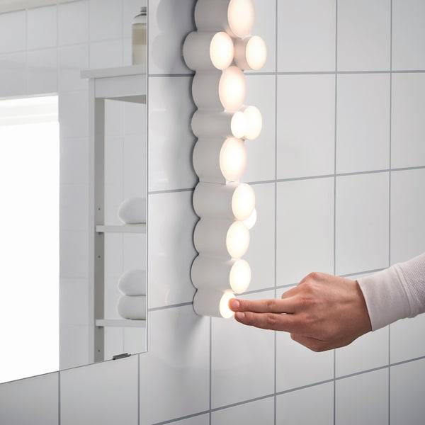 SÖDERSVIK Lámpara pared, regulación intensidad luminosa brillante/blanco, 70x10 cm