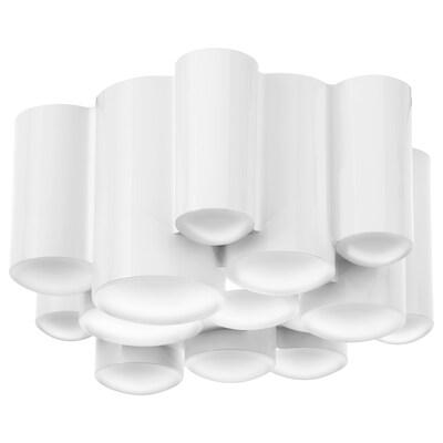 SÖDERSVIK Lámpara techo LED, blanco/brillante, 21 cm
