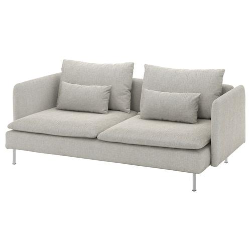 SÖDERHAMN sofá 3 plazas Viarp beige/marrón 83 cm 69 cm 198 cm 99 cm 14 cm 6 cm 186 cm 70 cm 39 cm