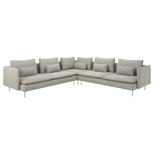 SÖDERHAMN sofá de esquina 6 Viarp beige/marrón 83 cm 69 cm 99 cm 291 cm 291 cm 14 cm 70 cm 39 cm