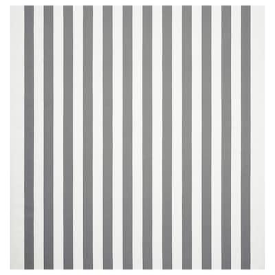 SOFIA Tela por metros, de rayas anchas/blanco/gris, 150 cm