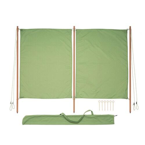 SOLBLEKT toldo protector verde 194 cm 160 cm 25 mm