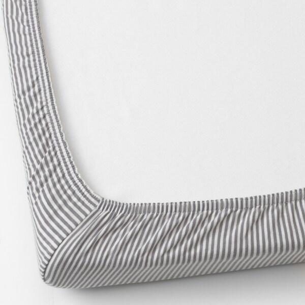 SOLGUL Sábana ajustable cuna, lunares/rayas, 50x81 cm