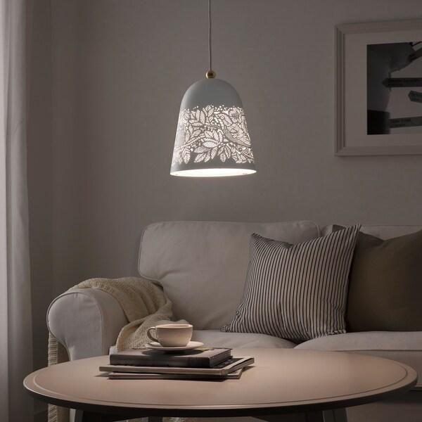 SOLSKUR Lámpara mesa blanco, color bronce IKEA